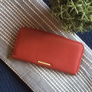 BCBGeneration wallet red vegan leather gold accent